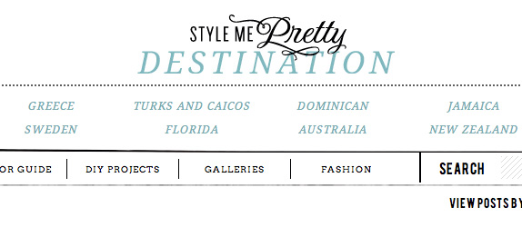 style me pretty destinations