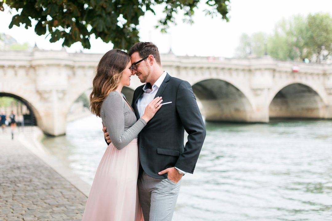 Paris engagement photography session Eiffel Tower fine art film love romantic France