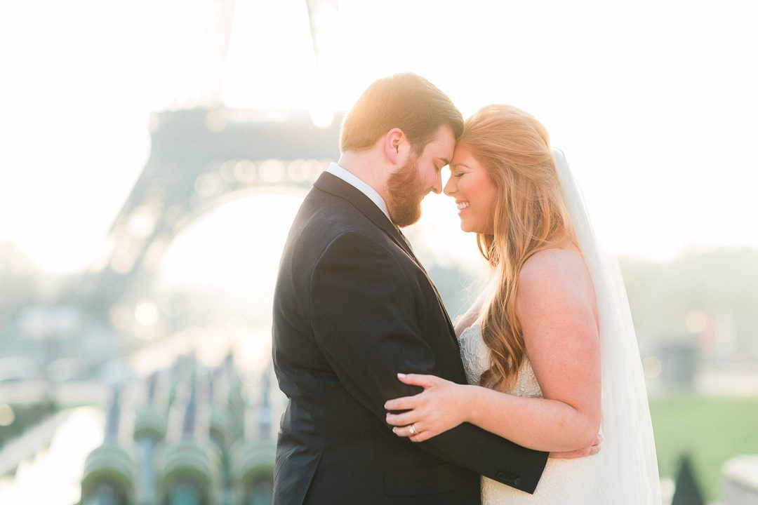 honeymoon Paris photographer wedding bride Eiffel Tower fine art film engagement session