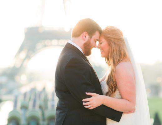honeymoon Paris photographer wedding bride Eiffel Tower fine art film engagement session